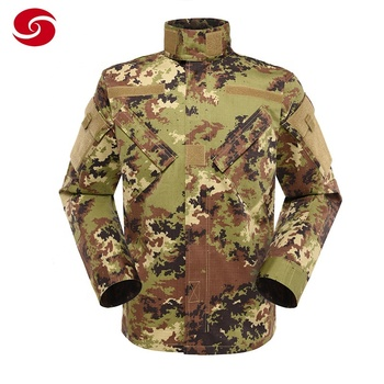 Polyester cotton Land Force Italian camouflage military uniform