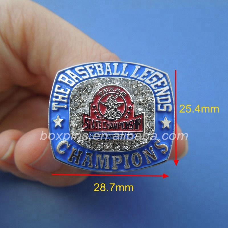 Atacado anel de campeonato de beisebol personalizado