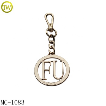 Bag  Hardware Hollow Chain Letter Plate FU Logo Round Handbag Metal Tags