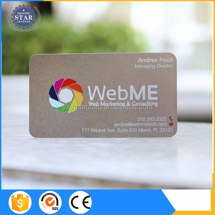 Promotional Silver/gold Color Foiling Pvc Card Silver Metal Business ...