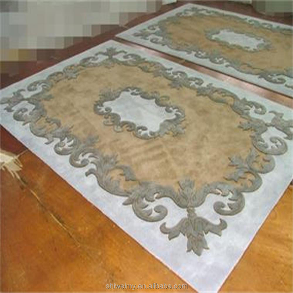 Hand made&carved living room 100% wool rug