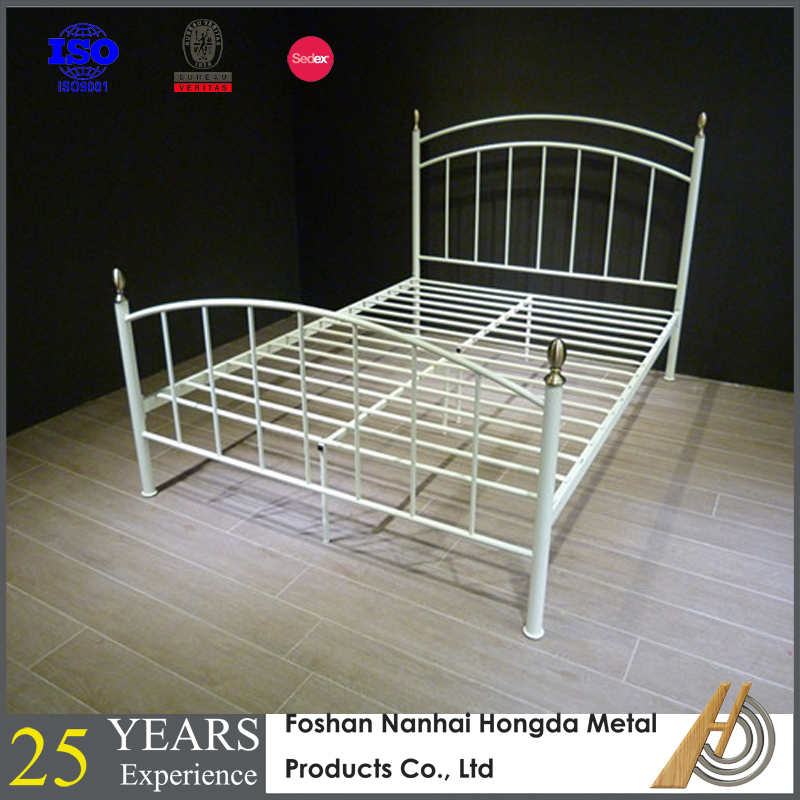 Venta al por mayor cama matrimonial del hierro labrado-Compre online ...