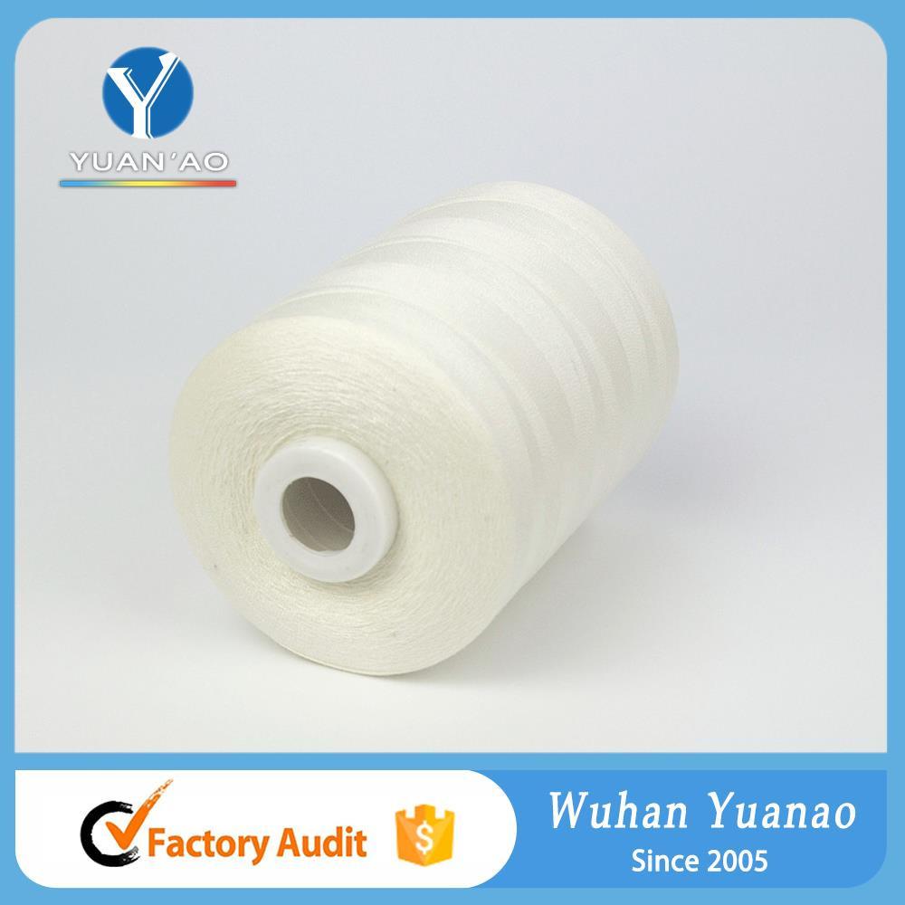 SEWINGTHREAD 100/% Polyester White King bird Cono de hilo de cocer Blanco
