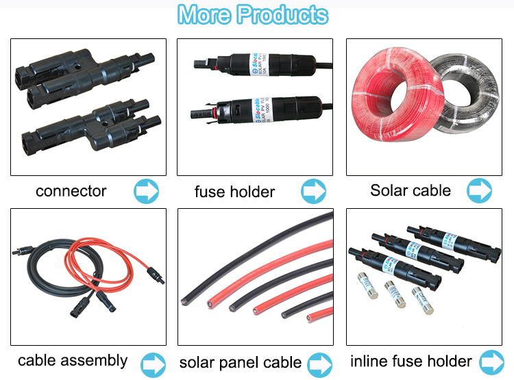 Custom waterproof electronic solar cable assembly PV cable and connector