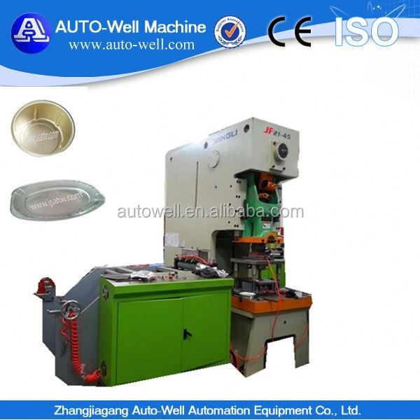 Best Chinese Brand foil plate machinery for food packing