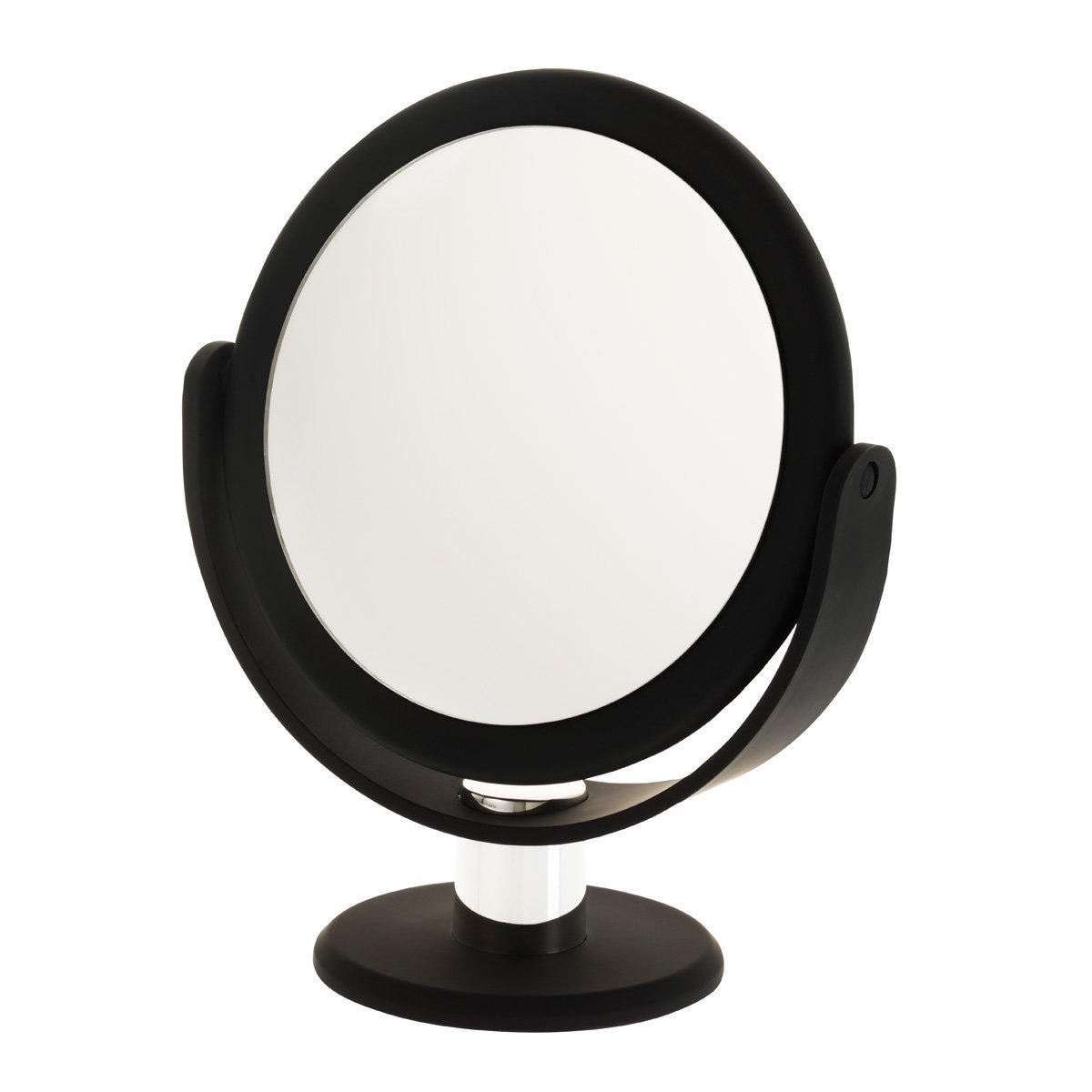 55ca61b631 Get Quotations · Danielle Creations Soft Touch Black Round Vanity Mirror,  10X Magnification