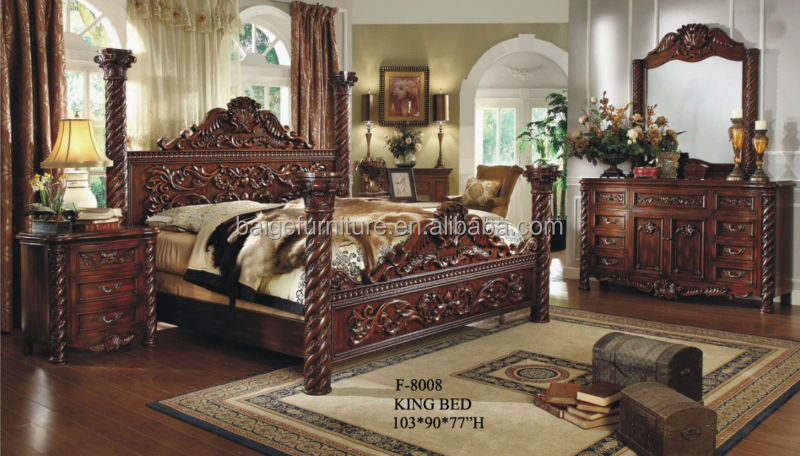 F b european style luxury bedroom furniture king