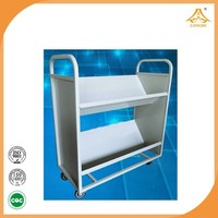 other school furniture commercial furniture 2-layer book cart cheap book cart 2015 new products modern furniture designer