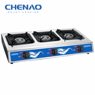 TRIPLE burner stainless steel gas stove/kitchen appliance OF food cooker