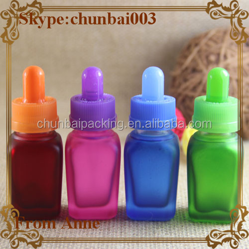 Hot selling15ml colorful glass e liquid flavoring concentrate with child safety cap