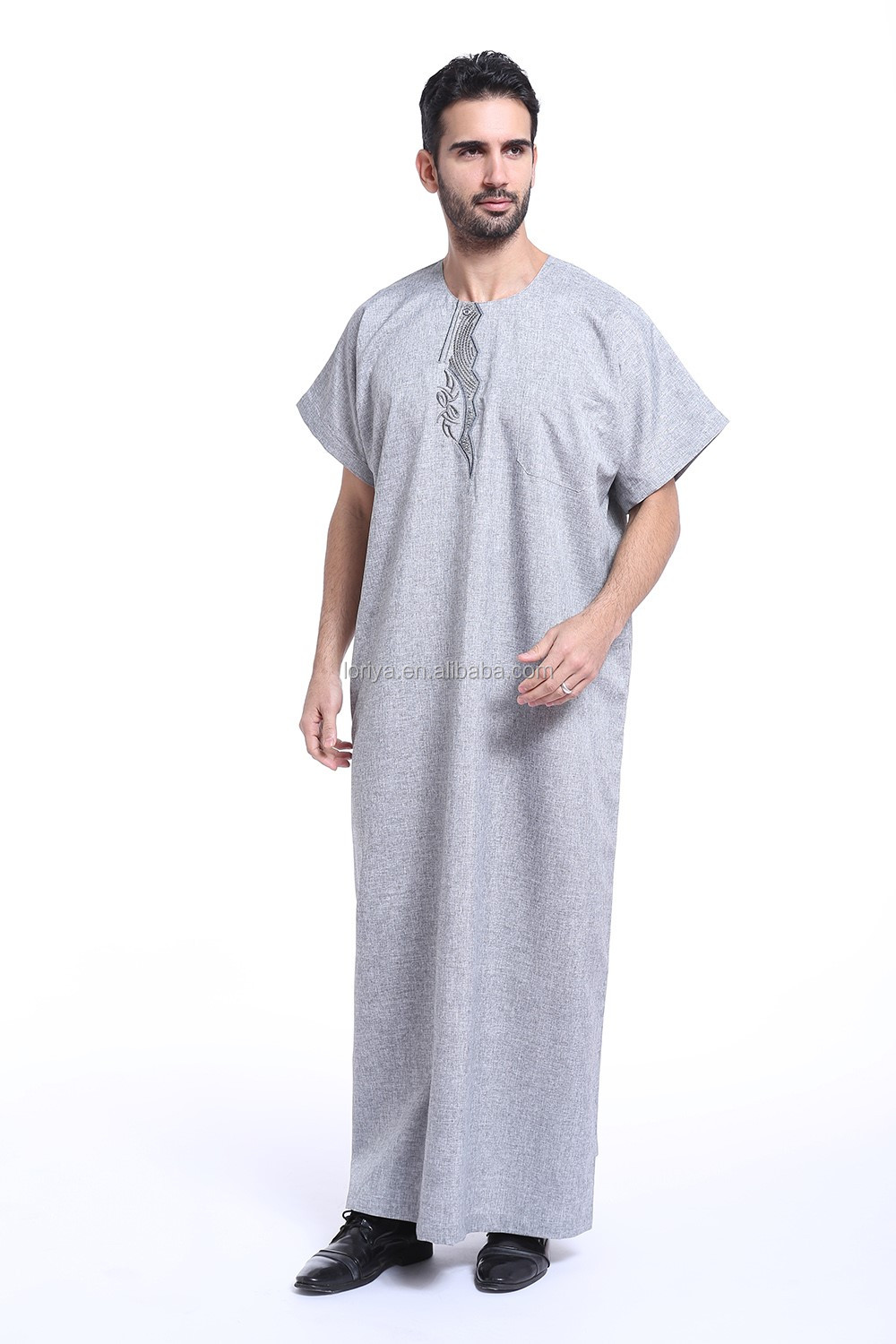 Summer short sleeve men's abaya islamic clothing arab muslim dress wholesale abaya for men