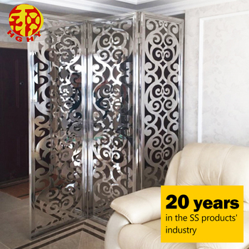 Stainless Steel Living Room Partition Screen Laser Cut Cnc Carved