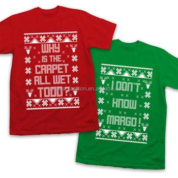 latest custom stylish couples christmas t shirts