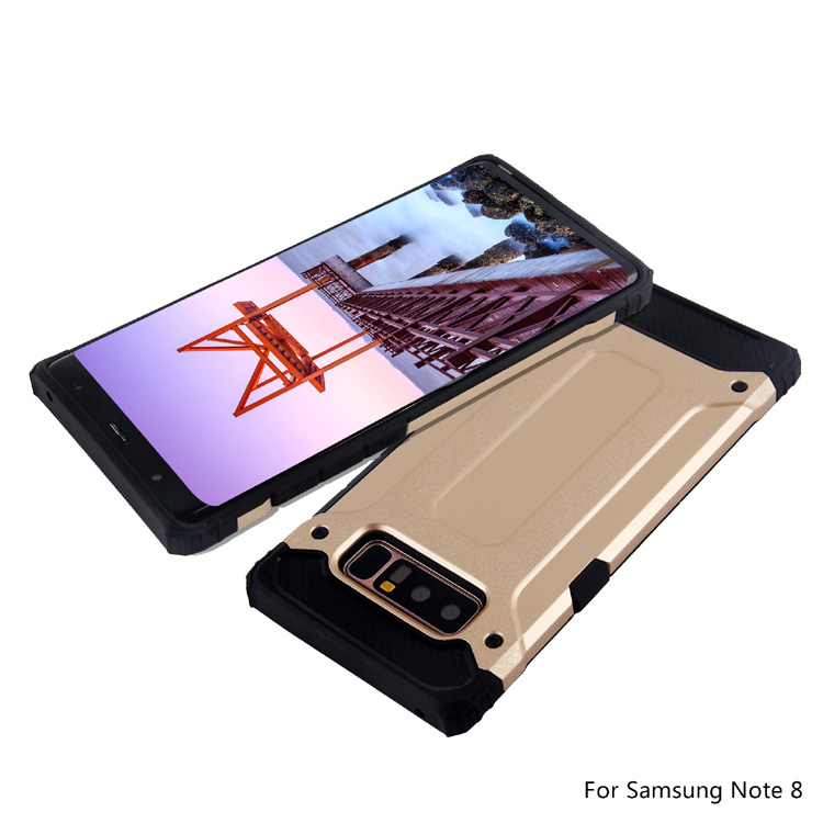 Golden Slim Armor Phone Case For Samsung Galaxy Note 8 Mobile Cover Case Phone Accessories Note 8 S7 S8