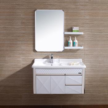 Wall Mounted Used Bathroom Vanity Cabinets With Wash Basin 078