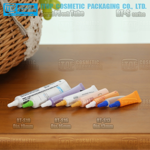diameter 13mm 16mm and 19mm mini and wide application pe soft plastic round cosmetics flexible tube