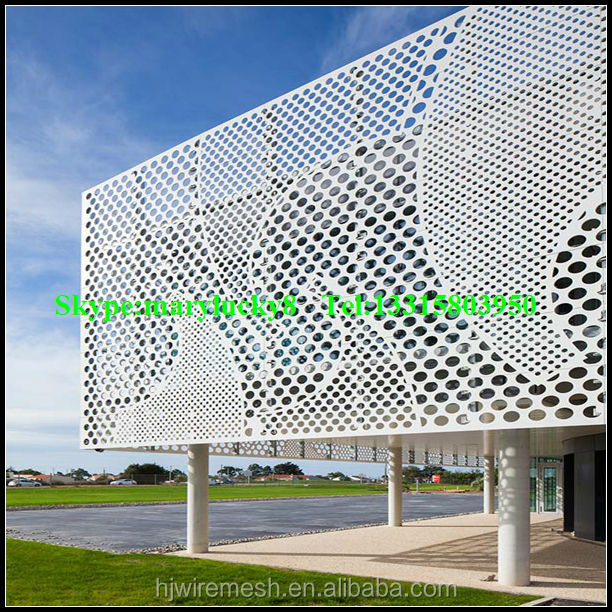 Perforated Metal Wall Cladding Panels Decorative
