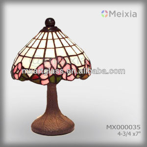 MX000035 wholesale stained glass mini rose tiffany lamp china