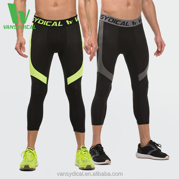 Hot Sale Men s Clothing Compression Tights Capri Leggings Sports Bottoms  Quick Dry Trousers GYM Fitness Pants 6a4ac052ff4a