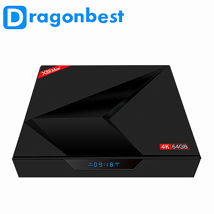 kd palyer 18.0 hd video smart android 9.0 tv box x88 max+ rk3328 4G 32G android media box quad core rockchip rk3328