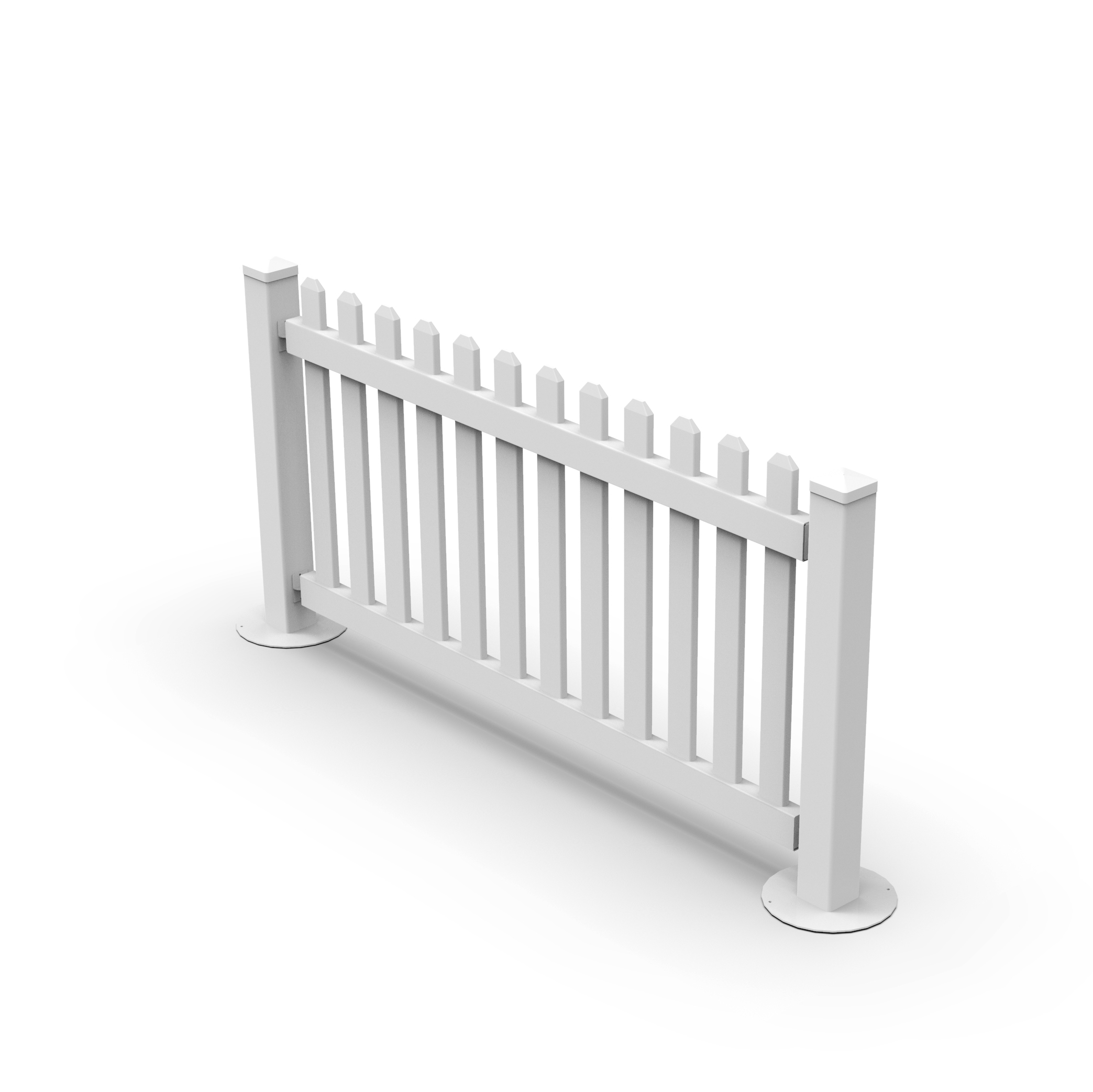 Fentech Easily Assembled Plastic Pvc Vinyl Temporary Fence With Metal Stand  Post Base Feet - Buy Temporary Fence,Temporary Fence Base,Pvc Temporary