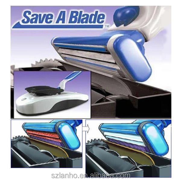 2015 New hot Save A Blade Electric Automatic Sharpen Tool Razor Blade Hair Shaver Sharpener