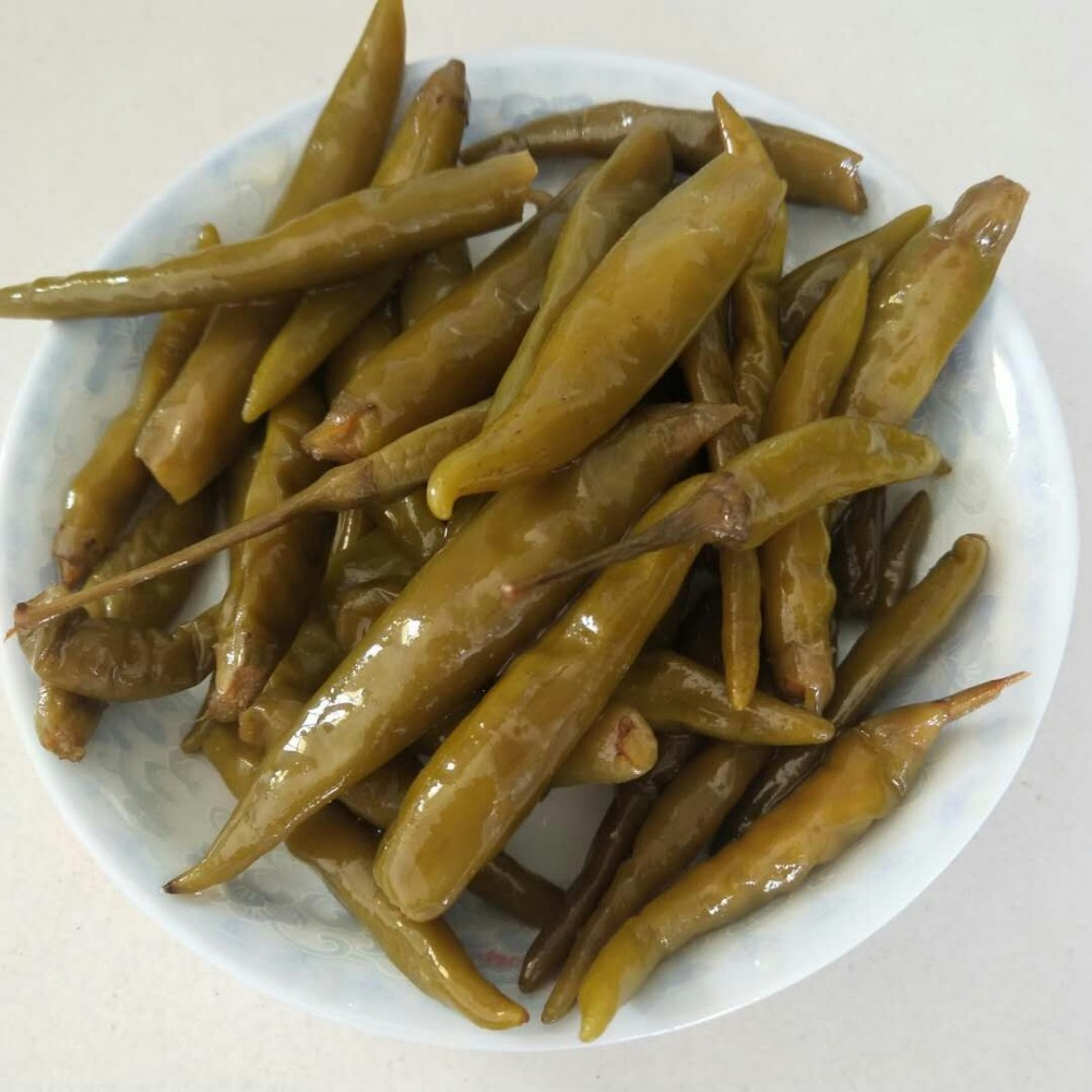 good price Chinese pickled green pepper in Brine