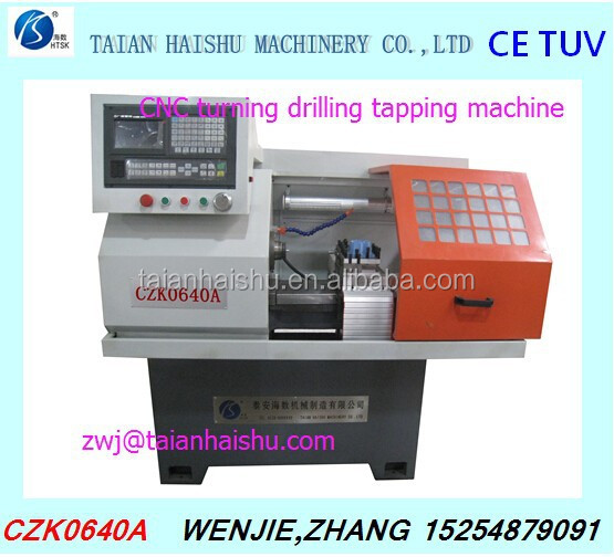 Low price Hot sale CZK0640A cnc drill and tapping machine from Taian Haishu