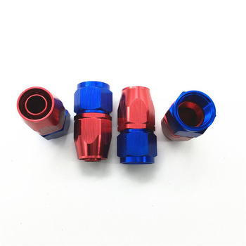 AN12-0 0 Degree Aluminum Oil Cooler Hose Fitting Swivel Hose End Fitting Adapter Oil Fuel Line
