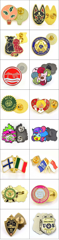Factory direct selling bulk lapel manufacturer logo custom pin metal