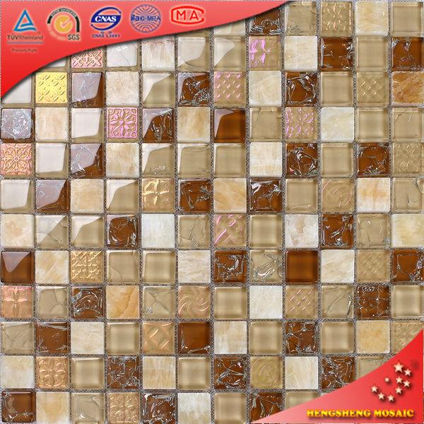 Ks03 Ladrillo De Vidrio Transparente Iridiscente Pared Azulejos Mosaicos Decorativos Mosaicos Identificación Del