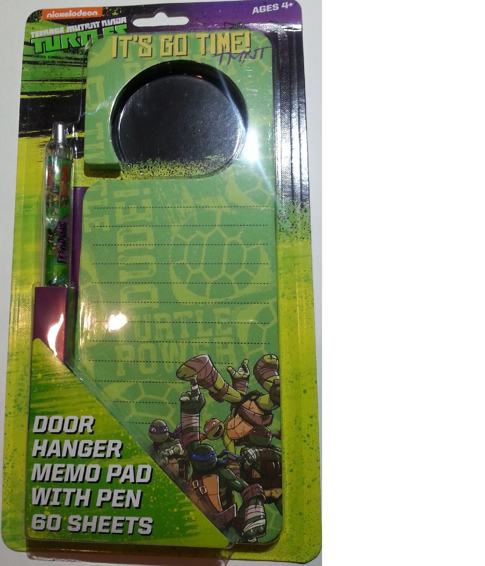 Ninja Turtles Doorhanger Memo Pad with Pen and 60 Sheets