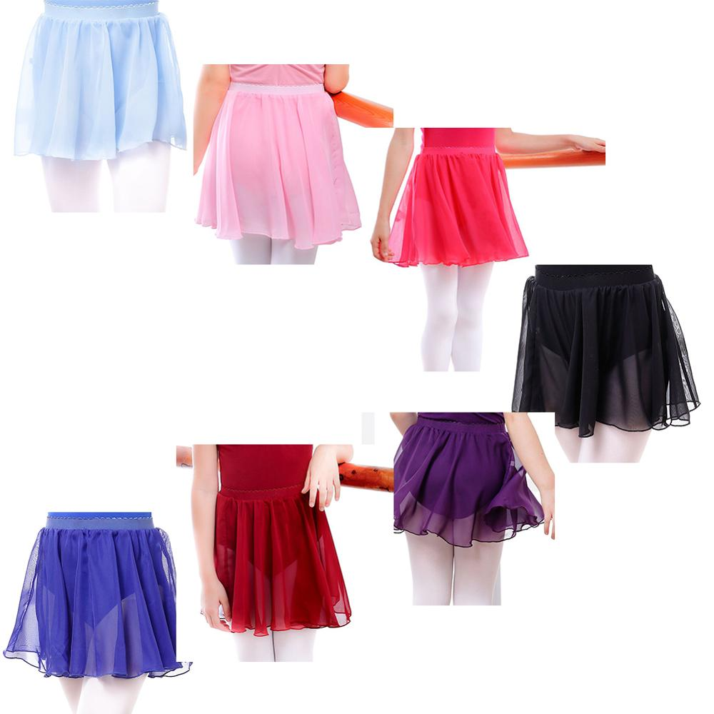 YUAND Kid and Adults Chiffon Dance Wrap Skirt Over Scarf Skate Skirt Ribbon Ballet Skirt