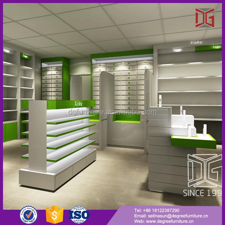 List manufacturers of retail pharmacy shop interior design for Modern pharmacy design