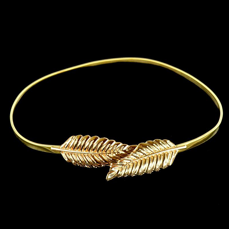 2019 Hot Sale Woman leather leaf waist belt lady dress belts decorative buckles belt