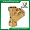 Good quality china 1/2 3/4 1 2 inch dimensions pn10/pn16 micron nickel-plated brass y strainer filter valve with filter net