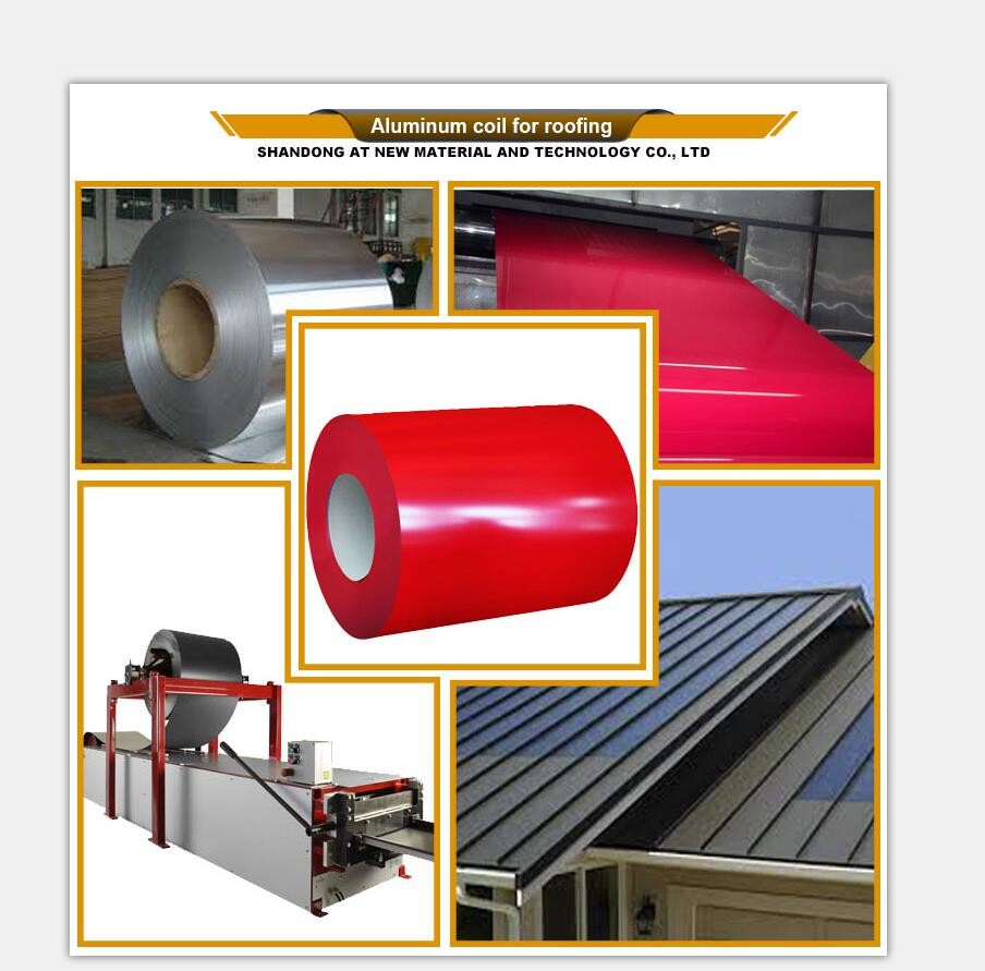 Coated aluminium coating coil cladding roofing coils