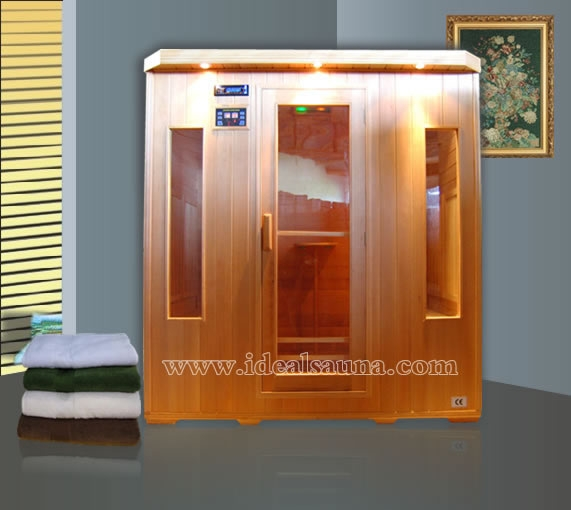 High quality finland 4 person wooden infrared saunas wholesale