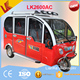 Electric tricycle loading 6 passengers/adult pedal car