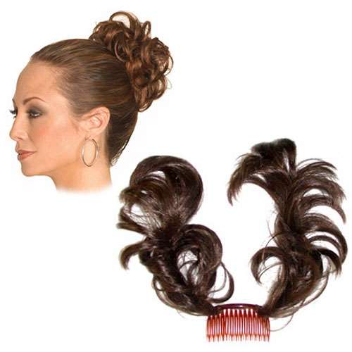 Factory price top quality synthetic bun hairpiece