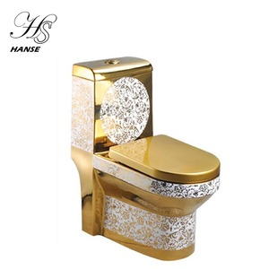 High grade sanitary ware ceramic gold color australian standard modern types of toilet bowl