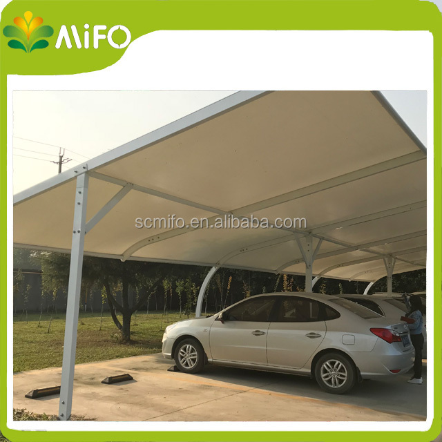 East Standard PVC Canopies Shelters Car Parking Shade with PVC Sheet Roof & pvc shade canopy-Source quality pvc shade canopy from Global pvc ...