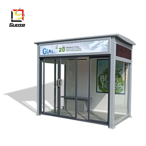 modern design solar stainless steel bus shelter of street furniture