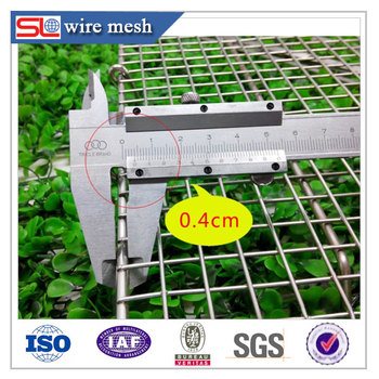 Stainless Steel Wire Mesh Round Basket / Stainless Steel Welded Wire ...