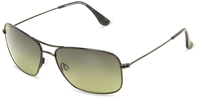 9449b09d4c Maui Jim HTS246-02 Gloss Black Maui Wiki Wiki Aviator Sunglasses Polarised