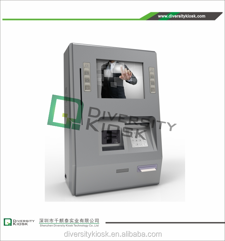 Wall Mounted Self Order Fast Food Kiosk Sefl Service Kiosk Wall Mount Cashless Payment