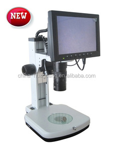 "LCD Microscope LCD-450-W 15X-95X zoom video Microscope with 10"" LCD monitor for electronic,lcd digital microscope"