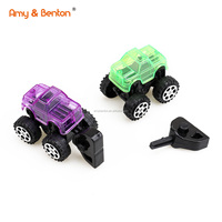 2019 most popular cross country transparent press car kids mini car toy set with good price