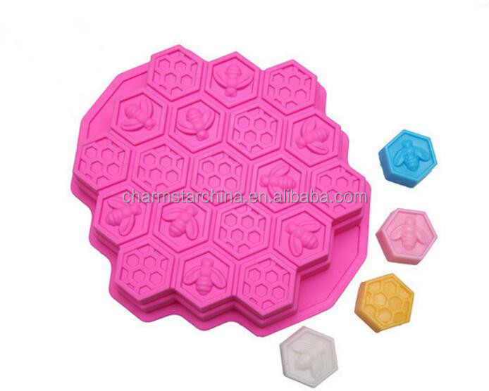 New Design Hot Sale BPA Free honeycomb jelly pudding mold cake mold silicone baking tools