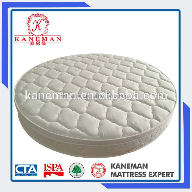 2016 China Wholesale Most Popular King Euro Pillow Top Pocket Spring Round Bed Mattress